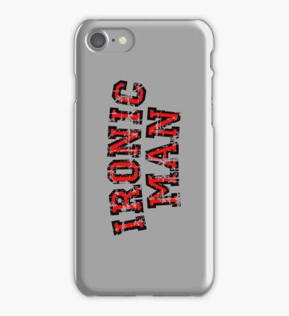 IRONIC MAN Vintage Red iPhone Case/Skin