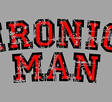 IRONIC MAN Vintage Red by theshirtshops