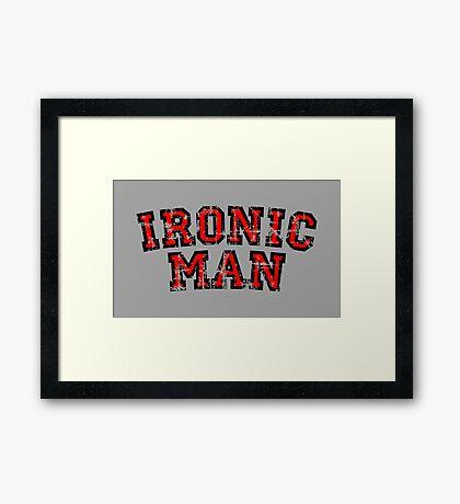 IRONIC MAN Vintage Red Framed Print