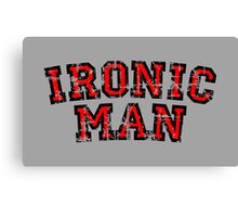 IRONIC MAN Vintage Red Canvas Print