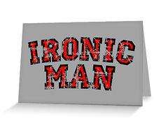 IRONIC MAN Vintage Red Greeting Card