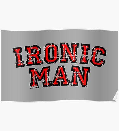 IRONIC MAN Vintage Red Poster