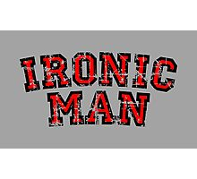 IRONIC MAN Vintage Red Photographic Print