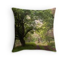 Forest Glade Scotland Throw Pillow
