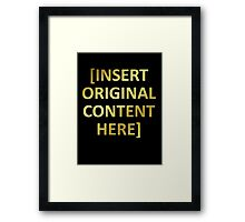 The Golden Rule Framed Print