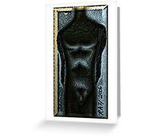 Obsidian Man Greeting Card