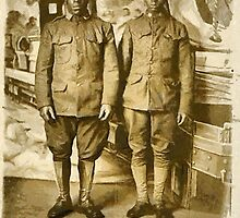 Black American World War I Infantry Soldiers by Dennis Melling