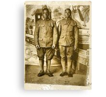 Black American World War I Infantry Soldiers Canvas Print