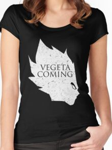Vegeta is Coming Women's Fitted Scoop T-Shirt