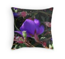 Nature's Floral Abstract Throw Pillow