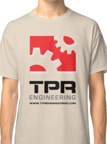 TPR Engineering Stacked large white Classic T-Shirt