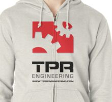 TPR Engineering Stacked large white Zipped Hoodie