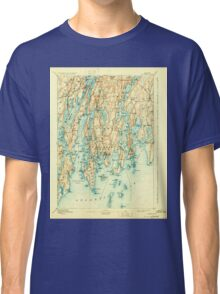 Maine USGS Historical Map Boothbay 807395 1893 62500 Classic T-Shirt