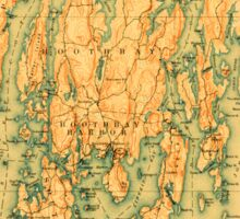 Maine USGS Historical Map Boothbay 807398 1893 62500 Sticker