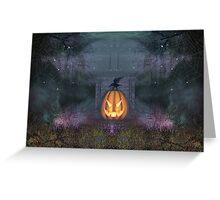 A Grave Pumpkin Greeting Card