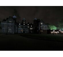 Aston Hall by Candlelight (Exterior) Photographic Print