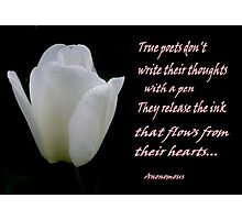 True poets Photographic Print