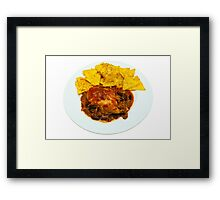 Chicken & Beef Chilli Cheese Nachos Framed Print