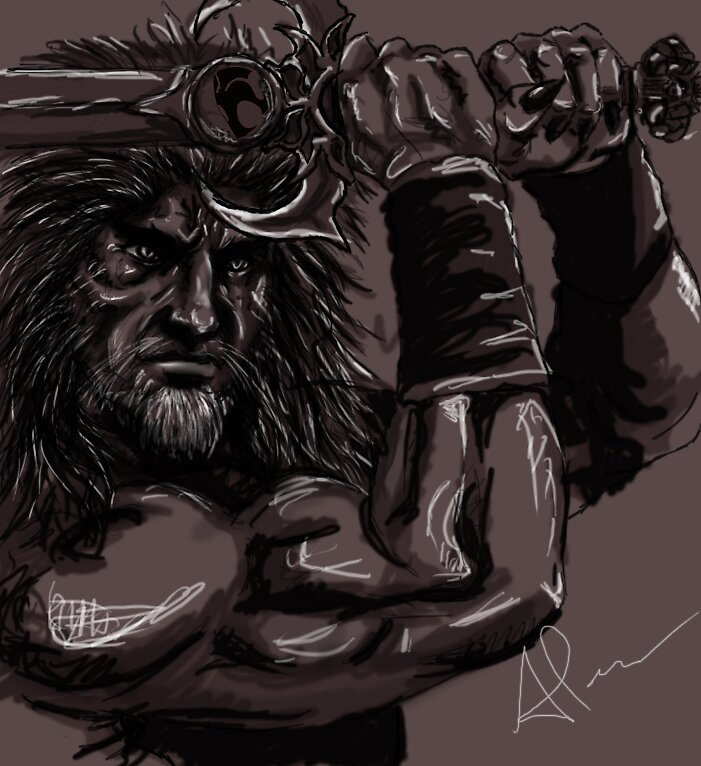 My Original Concept Sketch For Liono Lord of the Thundercats by Andrew Pearce