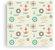 Nautical pattern. Hipster image Canvas Print