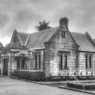 The Gardeners Lodge in Black & White by Michael Matthews