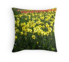 Field of Yellow Daffodils Throw Pillow