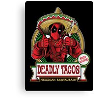 DEADLY TACOS Canvas Print