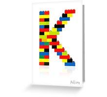 K Greeting Card