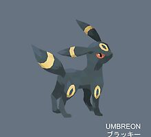 Umbreon Low Poly by meowzilla