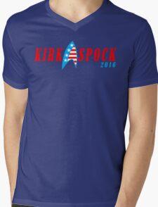Kirk spock 2016 Funny Geek Nerd Mens V-Neck T-Shirt