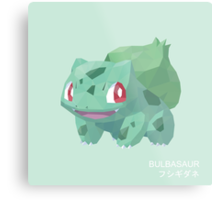 Bulbasaur Low Poly Metal Print