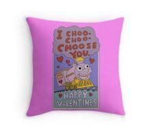 I Choo - Choo - Choose You! Throw Pillow