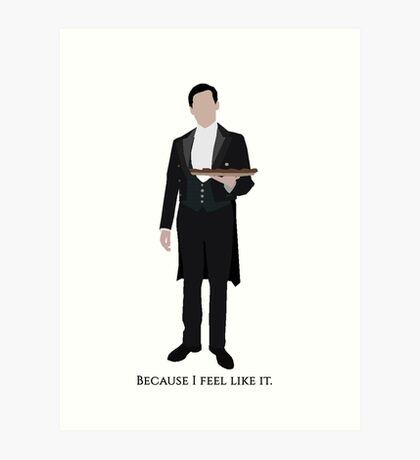 Downton Abbey - Thomas Barrow Art Print
