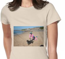 5 Sera with her Spoodle, Beagle & Schitzu Womens Fitted T-Shirt