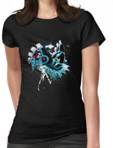 Genshi Kyogre (Blue Background) Womens Fitted T-Shirt