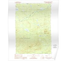 Maine USGS Historical Map Boundary Bald Mountain 460232 1989 24000 Poster
