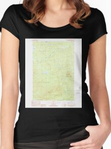 Maine USGS Historical Map Boundary Bald Mountain 460232 1989 24000 Women's Fitted Scoop T-Shirt