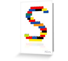 """S"" Greeting Card"