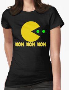 NOM NOM NOM PAC MAN Funny Geek Nerd Womens Fitted T-Shirt