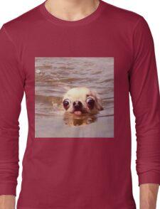 Swimming dog Long Sleeve T-Shirt