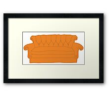 Friends couch Framed Print