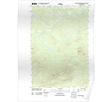 Maine USGS Historical Map Boundary Bald Mountain 20110910 TM Poster