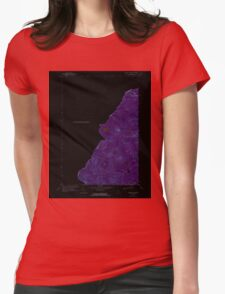 Maine USGS Historical Map Boundary Pond 104949 1970 24000 Inversion Womens Fitted T-Shirt