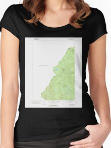 Maine USGS Historical Map Boundary Pond 104949 1970 24000 Women's Fitted Scoop T-Shirt