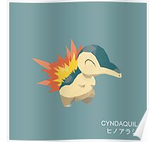 Cyndaquil Low Poly Poster
