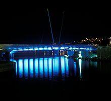 Taranaki Wharf at night, Wellington by Kyle  Jackson