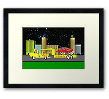 Delivery Toon Truck Framed Print