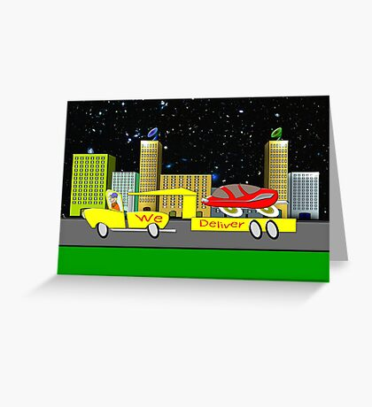 Delivery Toon Truck Greeting Card