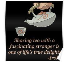 Sharing Tea - Iroh's Wisdom Poster