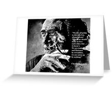 Charles Bukowski - black - quote Greeting Card